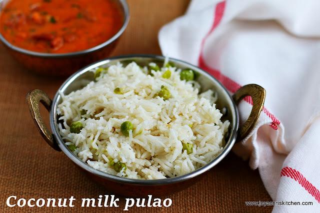coconut milk- pulao