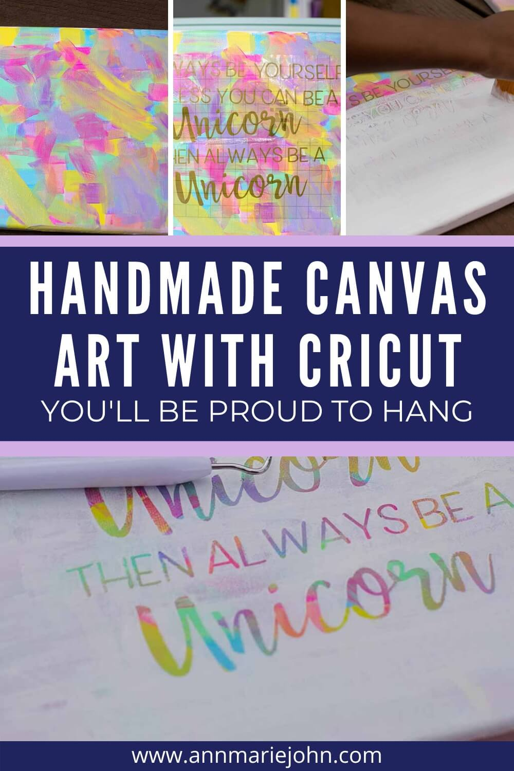 Homemade Canvas Art With Cricut You'll be Proud to Hang