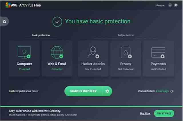 تحميل برنامج الأنتي فيروس AVG AntiVirus FREE مجانا