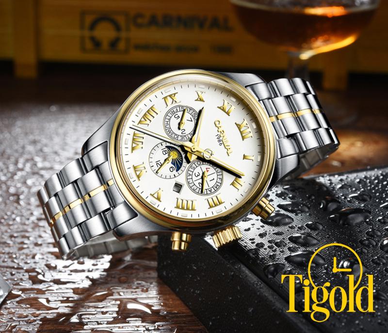 đồng hồ carnival cho nam hàng hiệu