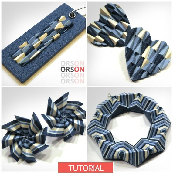 Orson Geometric Polymer Clay Tutorials by Nikolina Otrzan