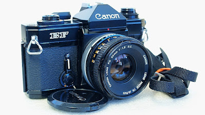 Canon EF (Black Beauty) Body #788, Canon FD 50mm 1:1.8 S.C. #319