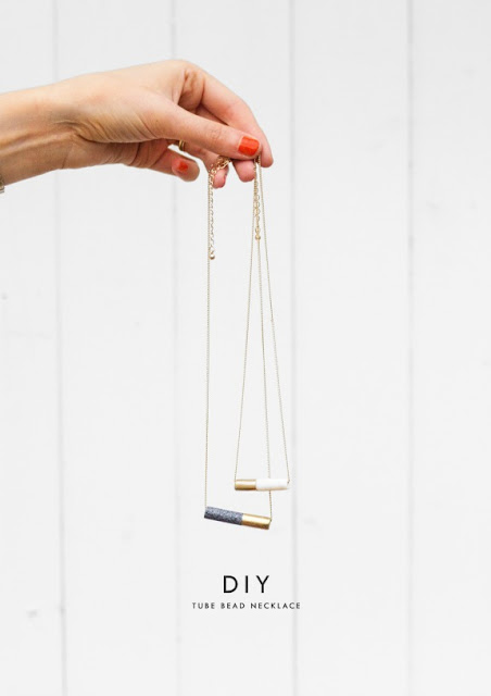 DIY tube necklace gift idea