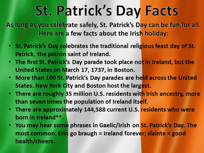 Happy St Patrick's Day History, Facts, Background - About ...