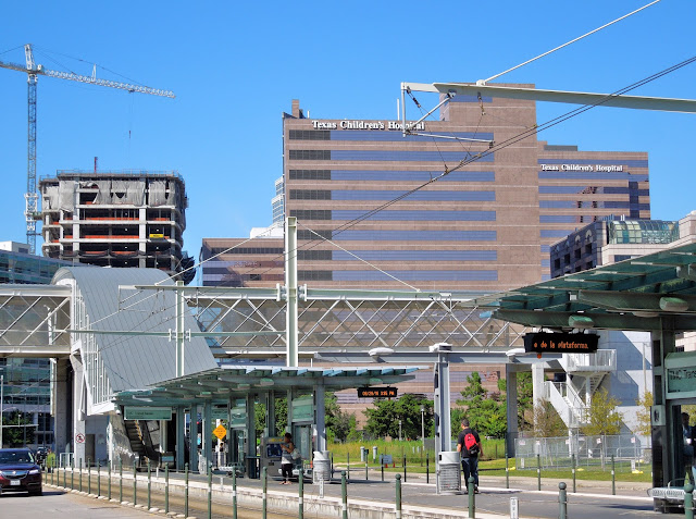 TMC Transit Center stop on Red Line - Texas Children's Hospital