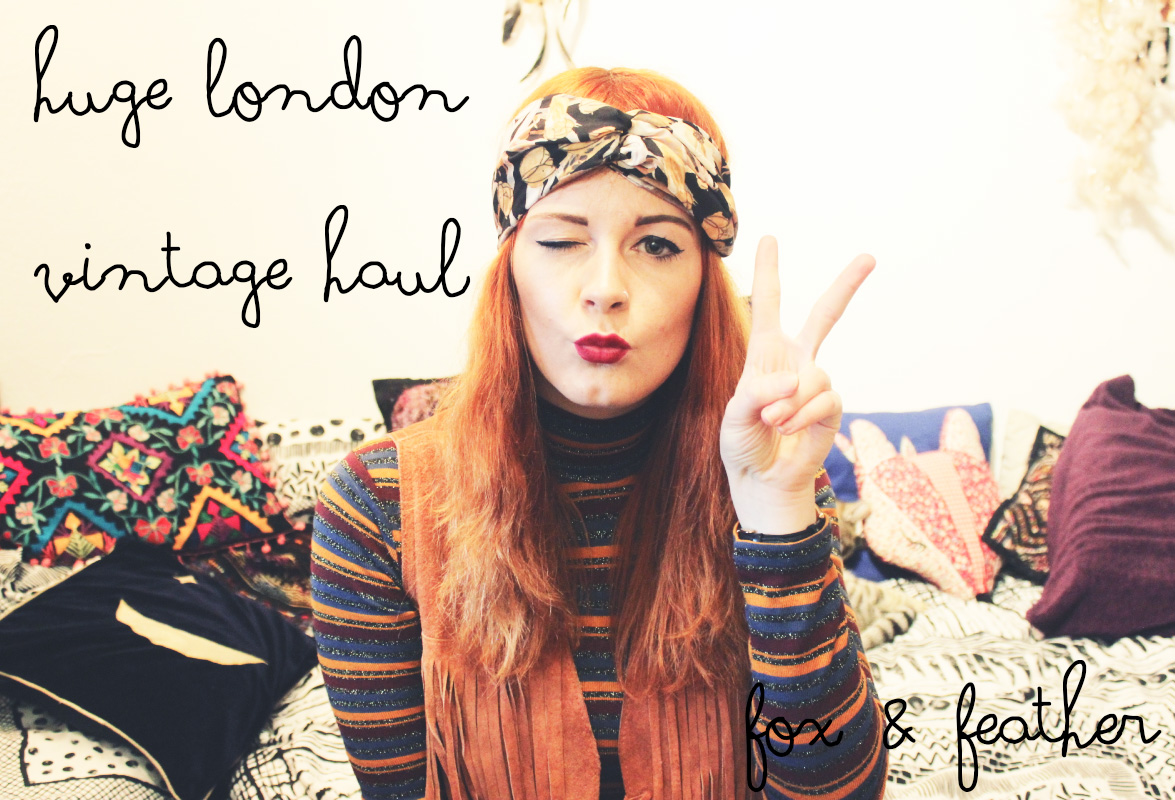 Huge London Vintage Clothes Haul Fashion Blogger