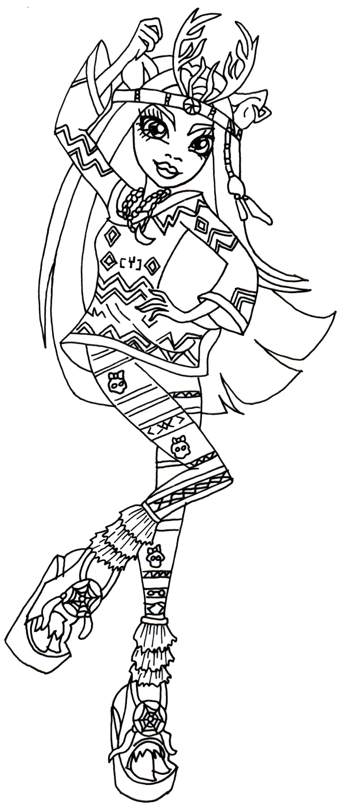 Free printable monster high coloring pages isi dawndancer for Monster high free coloring pages