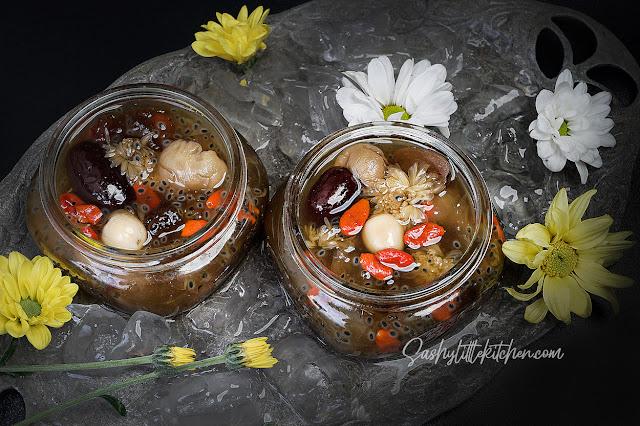 resep peach gum desserts atau tao jiao