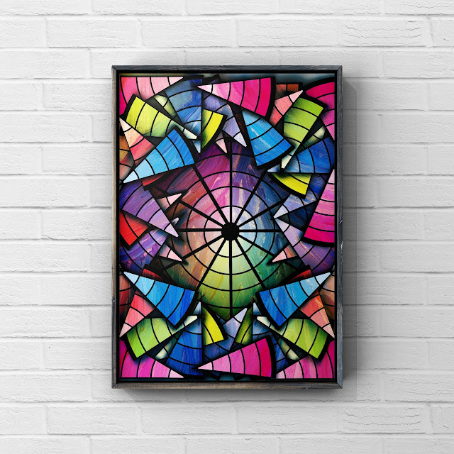Carnival abstract art by Mark Taylor