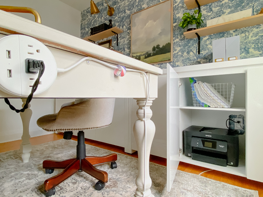 how to hide computer cords, how to hide wires in home office, best way to hide cords, hide computer cords on desk
