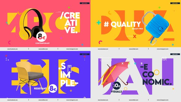 VideoHive Colorful Product Promo After Effect Template Free Download