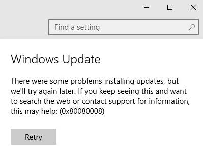 Cara untuk Memperbaiki Kesalahan Pembaruan Windows 10 0x80080008