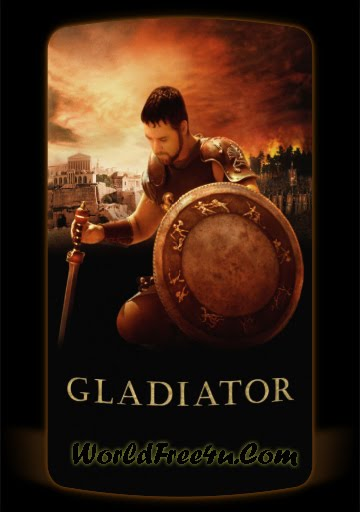 Poster Of Movie Gladiator (2000) Bluray Rip 720P HD Dual Audio Hindi & English Free Download At worldfree4u.com