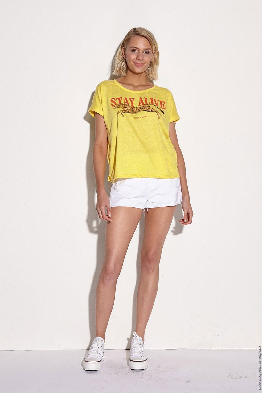 Remera amarilla básica mujer primavera verano 2020.