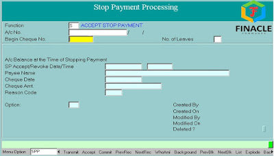 STOP PAYMENT OF CHEQUE PROCEDURE