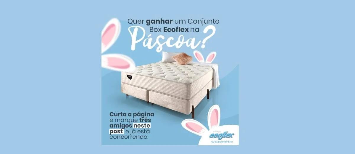 Promoção Colchões Ecoflex Páscoa 2020 Concorra Conjunto Box Grátis