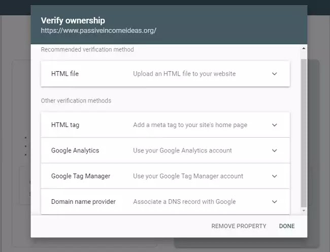 Verify your Website in Webmaster Tools