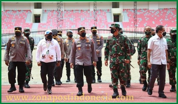 Panglima TNI, Kapolri dan Menpora Tinjau Kesiapan Stadion dan Arena Akuatik PON XX