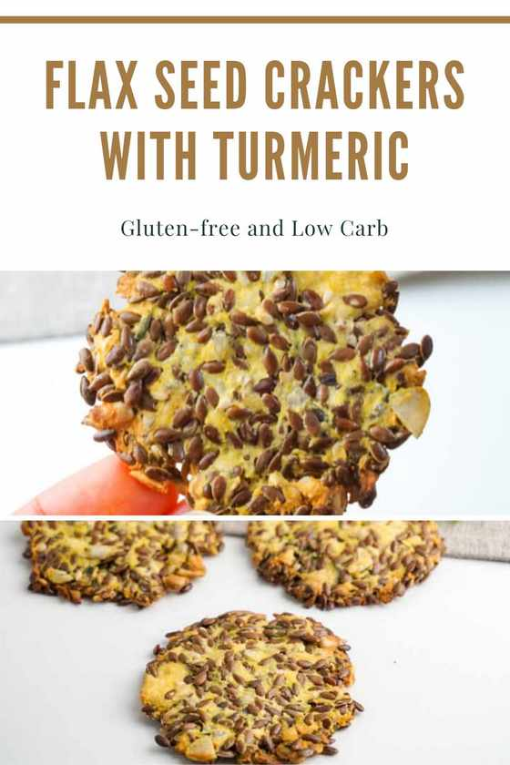 Flax Seed Crackers With Turmeric - Gluten-free and Low Carb Recipe