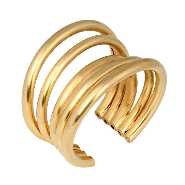 CLUSTER BANGLE GOLD by Studio Tara available at Velvetcase.com Rs 26,319