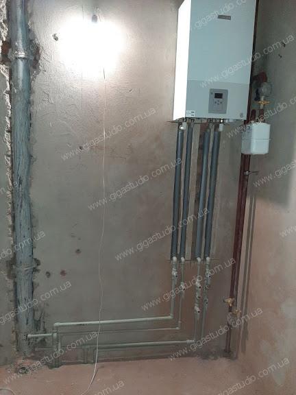 монтаж котла и систем отопления