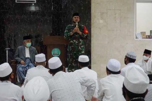 Dandim Maros Silaturahmi ke Ponpes Nahdatul Ulum Soreang