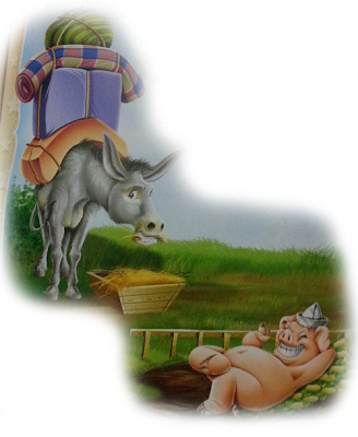 fabula el asno y el cochino