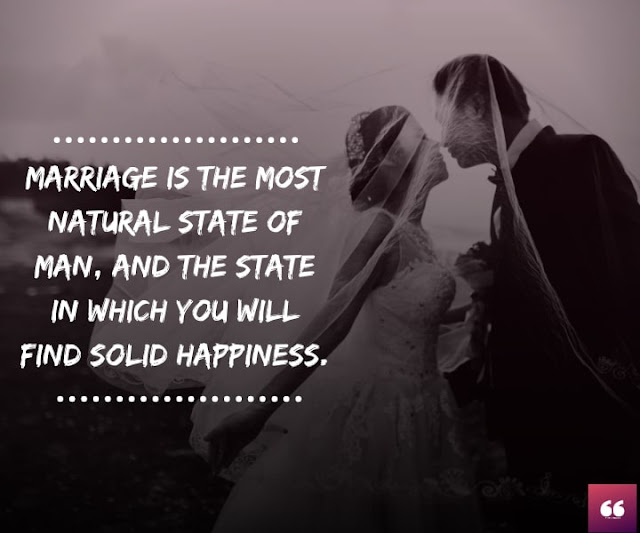 Marriage is the most natural state