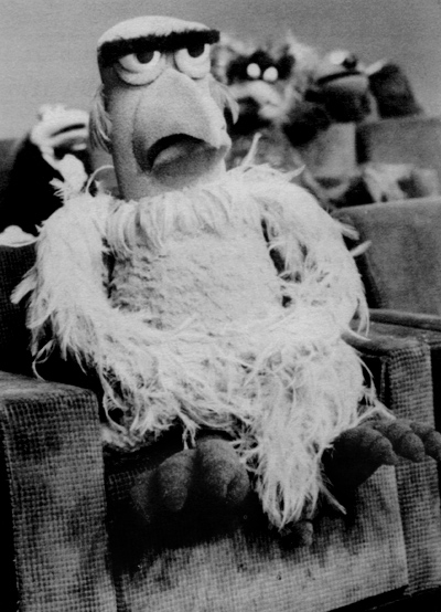 Mikey's Muppet Memorabilia Museum: Sam the Eagle has blue