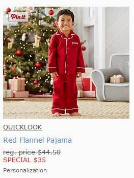 Pottery Barn Kids Red Flannel Pajamas