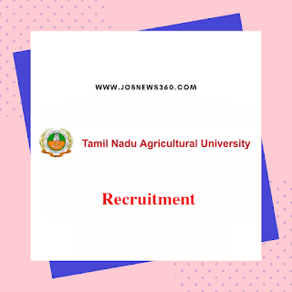 TNAU Thanjavur Walk-IN 15th Oct 2019 for Teaching Assistant & SRF