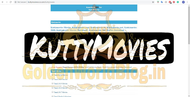 Kuttymovies 2020 - Kuttymovies HD Tamil Movies Download - GoldenWorldBlog.in
