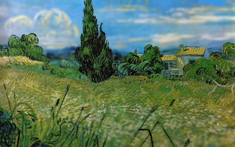 El mundo de Van Gogh visto a través de la perspectiva de una lente Tilt-Shift