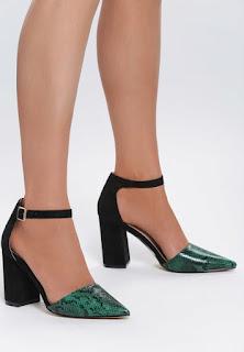 Pantofi cu toc Sizzle Verzi