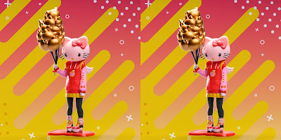 Designer Con 2019 Exclusive Kidrobot x Sanrio Hello Kitty Blush Edition Vinyl Figure by Candie Bolton
