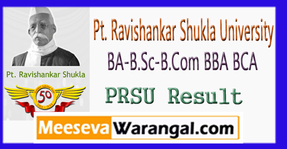 PRSU BA-B.Sc-B.Com BBA BCA 1st 2nd 3rd Year Result 2018