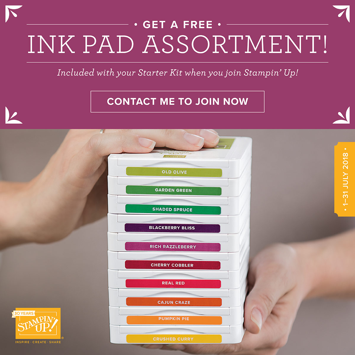 FREE Stampin' Pad Family Promotion