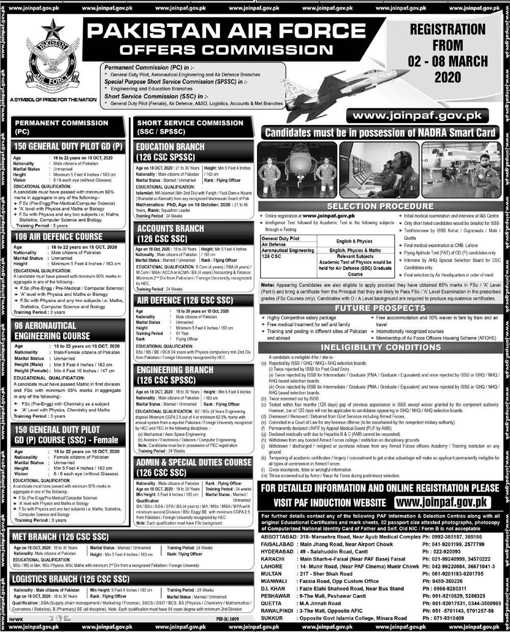 Pakistan Air Force PAF Jobs Latest advertisement