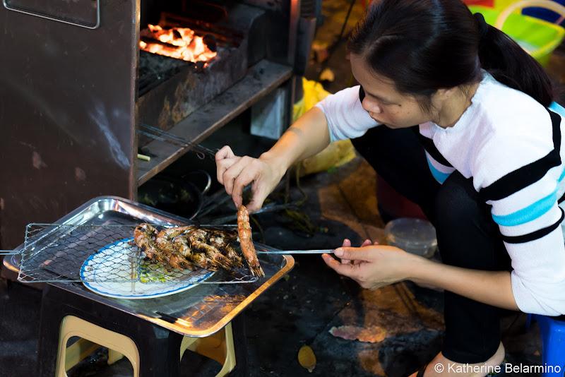 Grilled Shrimp Seafood Traditional Vietnamese Food