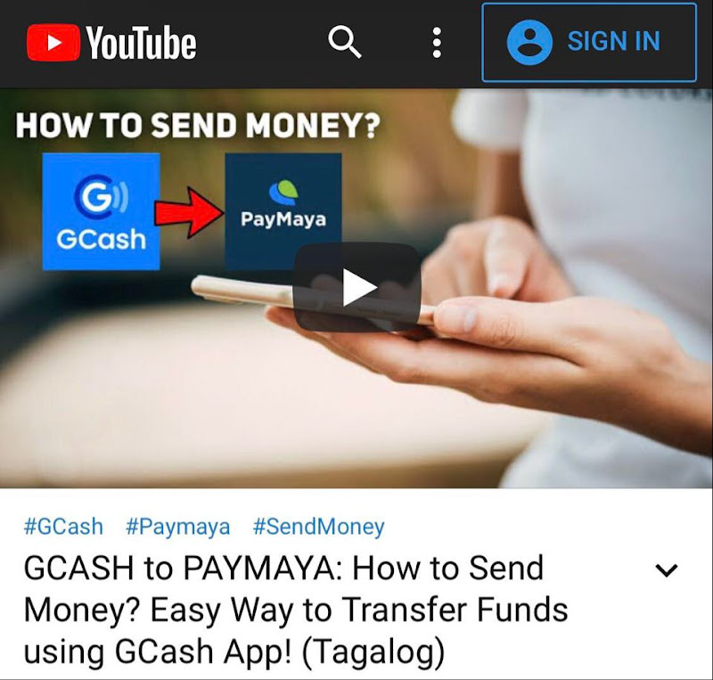 GCASH to PAYMAYA Video Tutorial