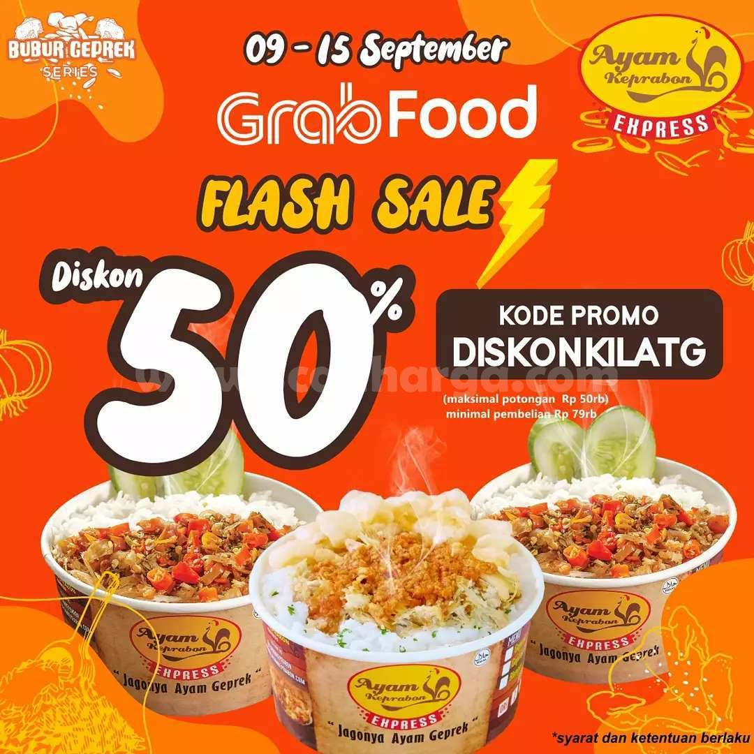 Promo Ayam Keprabon Express Diskon 50% via Grabfood