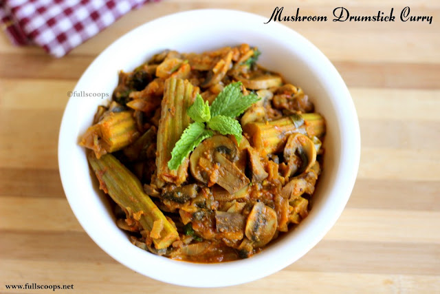 Mushroom Drumstick Curry