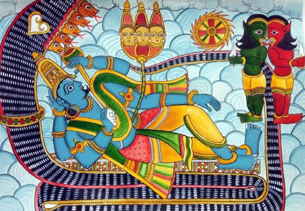 Madhu Kaitabha and Vishnu