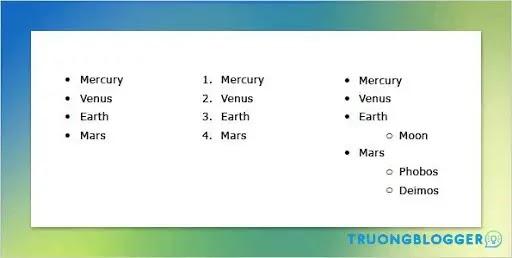 Hướng dẫn các kiểu tạo danh sách trong Word