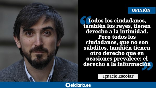 Ignacio Escolar: Solo cumplimos con nuestra obligación