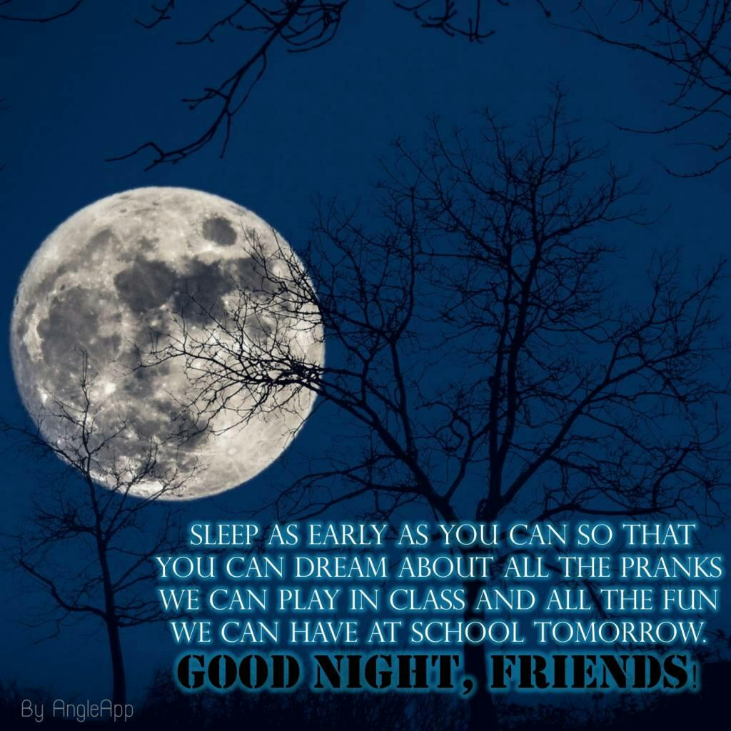 Good Night Friend Quotes Wishes In 2018 Wallpapersimages