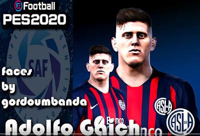 PES 2020 Faces Adolfo Gaich by Gordoumbanda