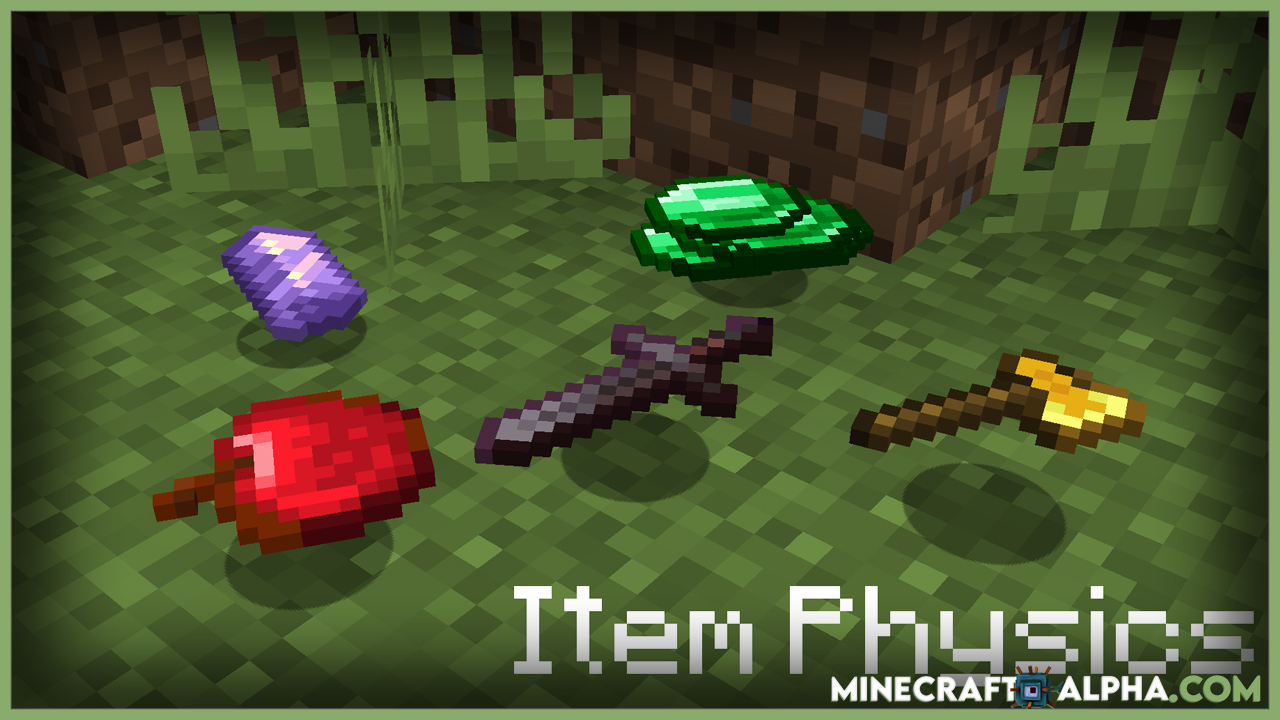 Item Physic Resource Pack 1.17.1 (Item Drop Animations)