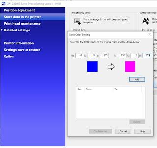 C6500 Spot Color Setting