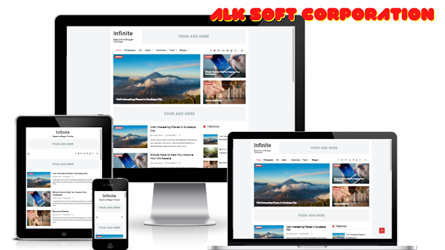 Infinite Premium Blogger Theme Free Download By ALK Soft Corporation